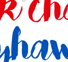 Rock Chalk Jayhawk Sticker