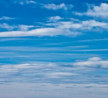 Cloud Streaked Blue Sky by Sandra Foster
