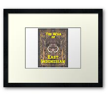 the wild of east indonesian Framed Print