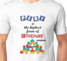 Albert Einstein Children Play Quotes Unisex T-Shirt