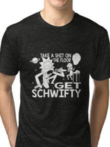 Rick and Morty Inspired Get Schwifty Tri-blend T-Shirt