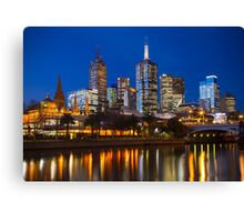 City of Melbourne at Blue Hour Canvas Print