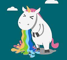 Barfing Unicorn by bykai