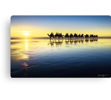 The Cable Beach Camels Canvas Print