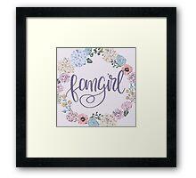 Fangirl (purple) Framed Print