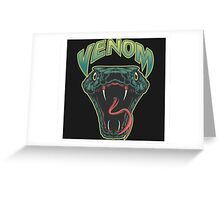 Venom icon illustration Greeting Card