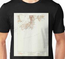 USGS TOPO Map Rhode Island RI Newport 353430 1944 31680 Unisex T-Shirt