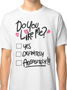 Gravity Falls Mabel: do you like me Classic T-Shirt
