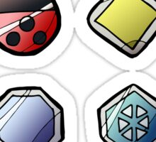Johto League Pokemon Inspired Badges Sticker