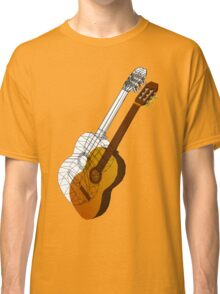 Guitar wireframe Classic T-Shirt