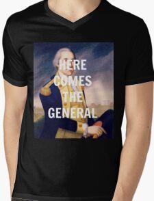 Here Comes the General - George Washington Mens V-Neck T-Shirt