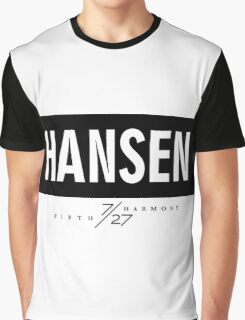 Hansen 7/27 - Black Graphic T-Shirt
