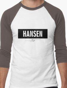 Hansen 7/27 - Black Men's Baseball ¾ T-Shirt