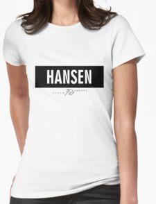Hansen 7/27 - Black Womens Fitted T-Shirt