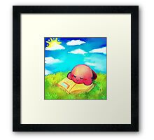 Kirby: Afternoon Nap Framed Print