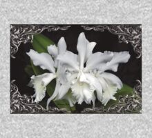 Elegant Orchids ~ Cluster of Three Baby Tee