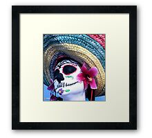 Day of the dead person  Framed Print
