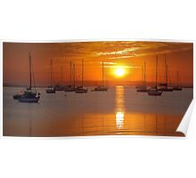 Corio bay sunrise - Geelong Poster
