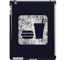Burger and Drink - White iPad Case/Skin