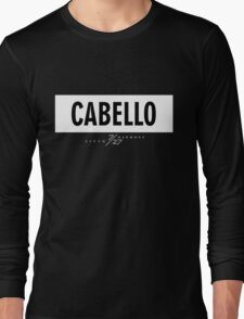 Cabello 7/27 - White Long Sleeve T-Shirt