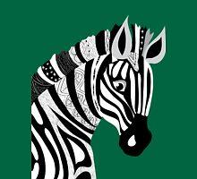 Black and White Hand Drawing Zebra Unisex T-Shirt