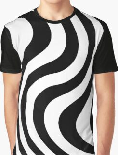 Black and white abstract striped Optical Art Graphic T-Shirt