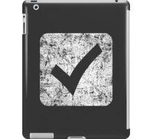 Check Box - White iPad Case/Skin