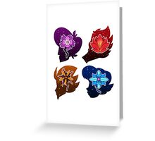 Squad Flower Heads Greeting Card