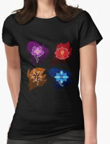 Squad Flower Heads Womens Fitted T-Shirt