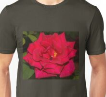 Ruby red with raindrops Unisex T-Shirt