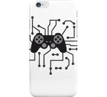 controller gamble gamer playing fun console circuitry electrical electronic lines iPhone Case/Skin