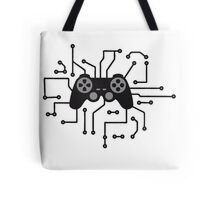 controller gamble gamer playing fun console circuitry electrical electronic lines Tote Bag