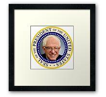 Bernie Sanders' Presidential Seal Framed Print