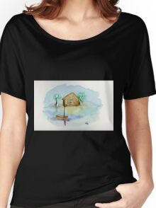 Quiet - Watercolor Painting Women's Relaxed Fit T-Shirt