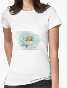Quiet - Watercolor Painting Womens Fitted T-Shirt