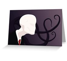 Slenderman Greeting Card