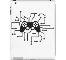 controller gamble gamer playing fun console circuitry electrical electronic lines iPad Case/Skin