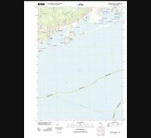 USGS TOPO Map Rhode Island RI Quonochontaug 20120604 TM Unisex T-Shirt