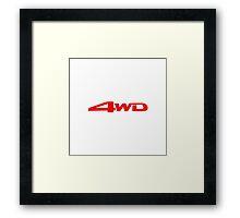 4WD Mitsubishi Framed Print