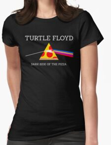 Turtle Floyd - Dark Side of the Pizza Womens Fitted T-Shirt