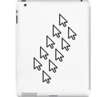 computer mouse pointer pc work show hand fingers dart click Control surf electronically online pattern design arrows iPad Case/Skin