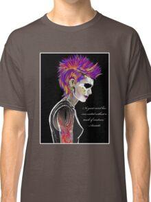 Colorful Mohawk Portrait Classic T-Shirt