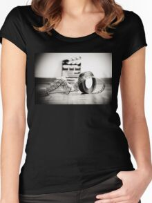 Clapperboard & Film Women's Fitted Scoop T-Shirt