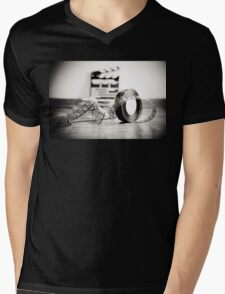 Clapperboard & Film Mens V-Neck T-Shirt