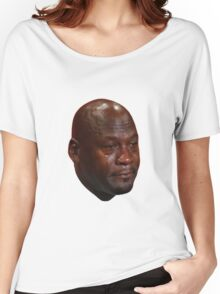 Crying Michael Jordan  Women's Relaxed Fit T-Shirt