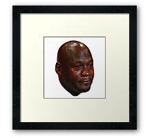 Crying Michael Jordan  Framed Print