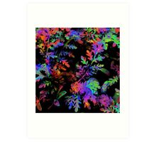 Psychedelic Ferns Art Print