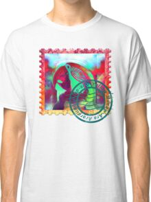 MACAW PSYCHEDELIC POSTAGE STAMP Classic T-Shirt