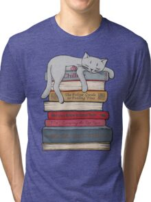 How to Chill Like a Cat Tri-blend T-Shirt