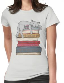 How to Chill Like a Cat Womens Fitted T-Shirt